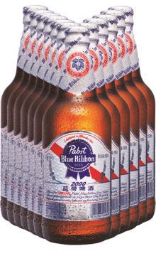 蓝带超爽玻璃瓶500ML*12