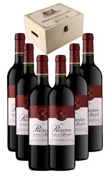 拉菲波尔多珍藏干红葡萄酒6支装加送木箱