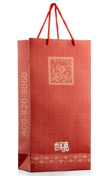 双瓶手提袋(红礼袋)