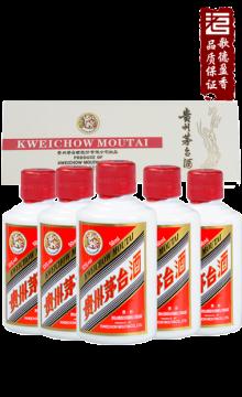 飞天茅台白色条盒装2018年53度50ml*5/盒