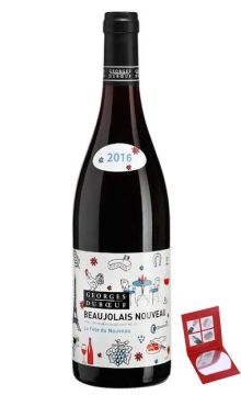 薄若莱新酒乔治杜博夫巴黎派对干红葡萄酒2016【直播专享】