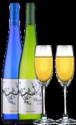 冰后白葡萄酒(2支装+2个香槟杯)